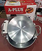 Набор из 2 глубоких сковородок WOK A-PLUS AL-0422/0423 (ВОК) 27 и 29 см.