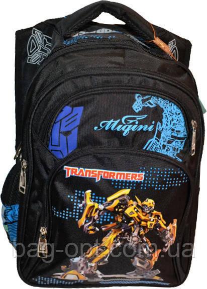 44b9393229a7 Школьный рюкзак для мальчика с роботом черный (40*29*17) : продажа ...