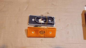 Фонарь боковой габаритный LED оранж, прямоугольный без кронштейн