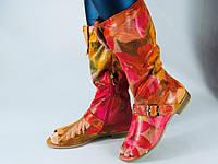 Сапожки летние Pink. Открытый носок. Лазерная обработка. р.36-41, фото 1