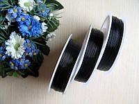 Проволока для бисера. Цвет черный. Диаметр 0.3 мм. 50 м