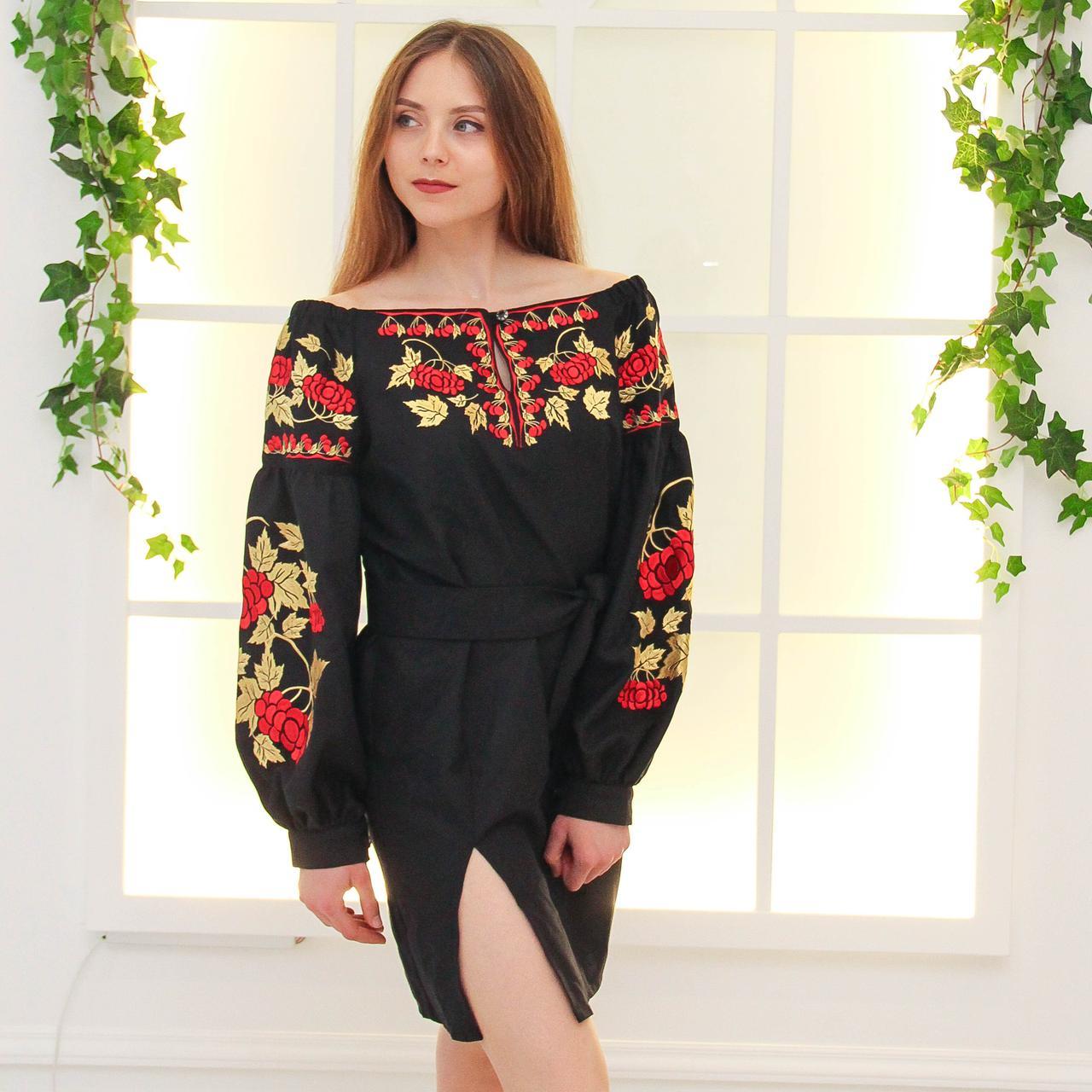 Вишите плаття КАЛИНА (машинна вишивка 5f1d35c642165