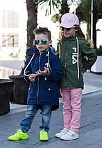 """Детская демисезонная куртка-ветровка унисекс """"FILA"""" с капюшоном (2 цвета), фото 3"""
