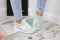 Красивые женские замшевые кроссовки Баланс Mint