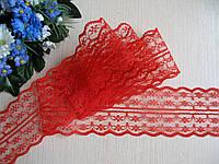 Кружево в цветочек 4,5 см цвет красный