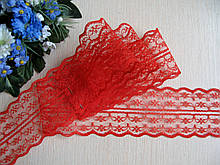 Мереживо в квіточку 4,5 см колір червоний