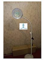 Лампа лупа Led косметологическая со светодиодной подсветкой напольная 5 диоптрий