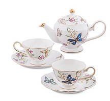 """Чайный набор на 2 персоны с чайником Pavone """"Райский уголок"""" JK- 50"""