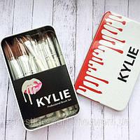 Кисти KYLIE brush белый 12 шт ( набор кистей )