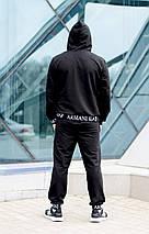 """Мужской трикотажный спортивный костюм """"EA7"""" с карманами и капюшоном (2 цвета), фото 3"""