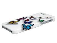 3D Чехол пластиковый с бабочками для Iphone 5/5S/5SE