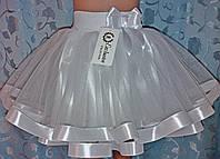 Дитячаспідничкана резинці, біла