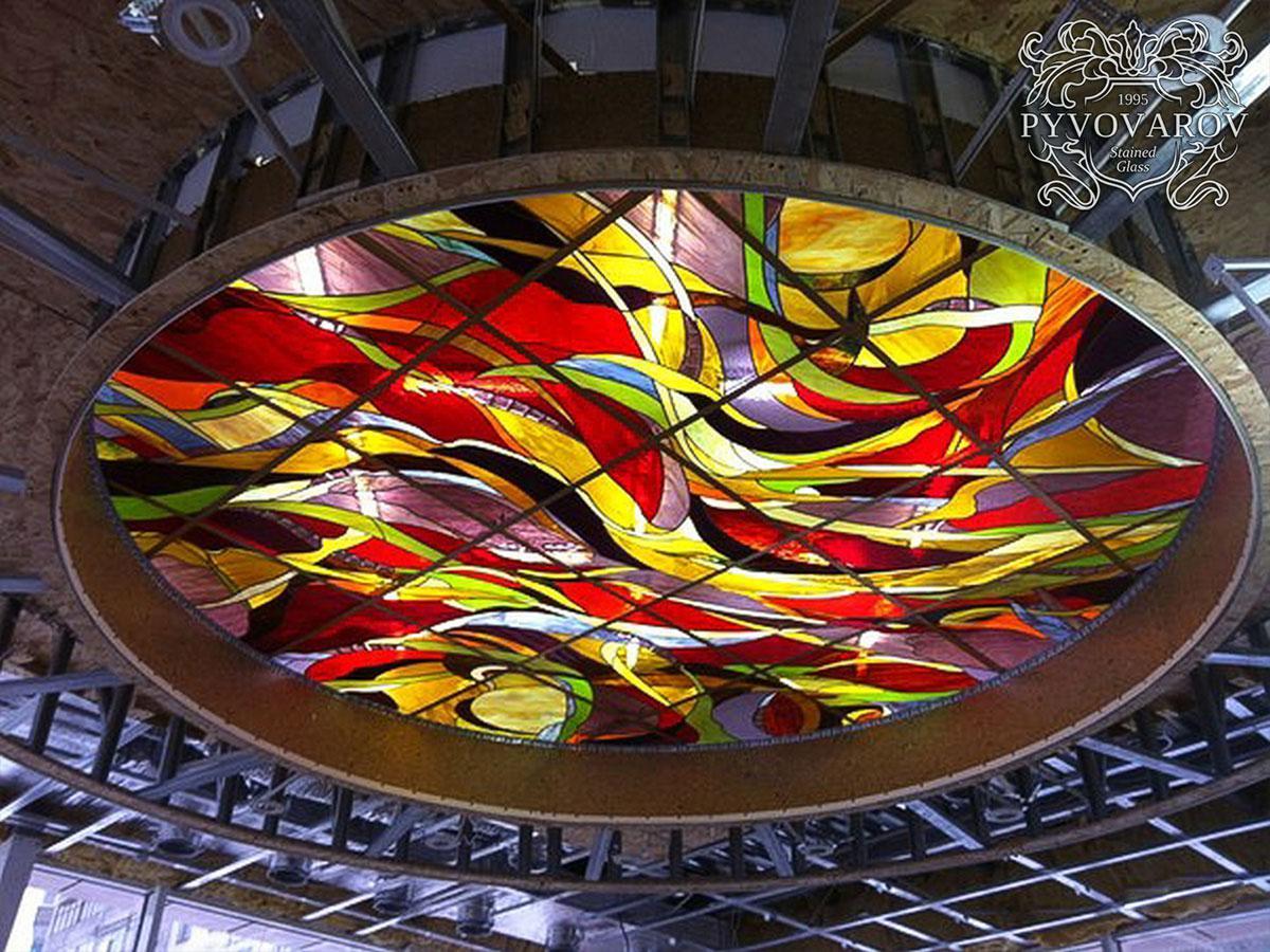 Витраж Тиффани на круглый потолок