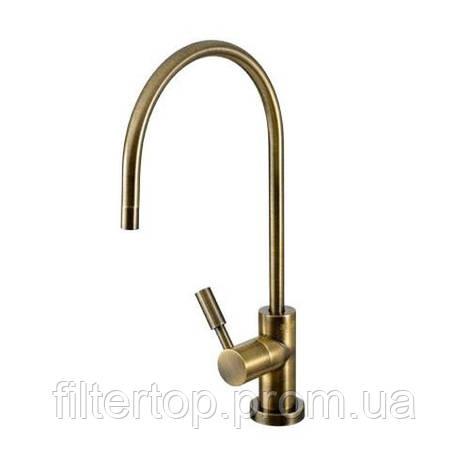 Кран Modern Новая Вода с индикатором замены картриджей Antique Brass - Античная Бронза