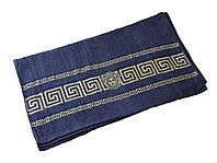 Полотенце для лица, 50*90 200 Вижин горгона тёмно-синий