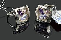 Серебряный комплект украшений Омела