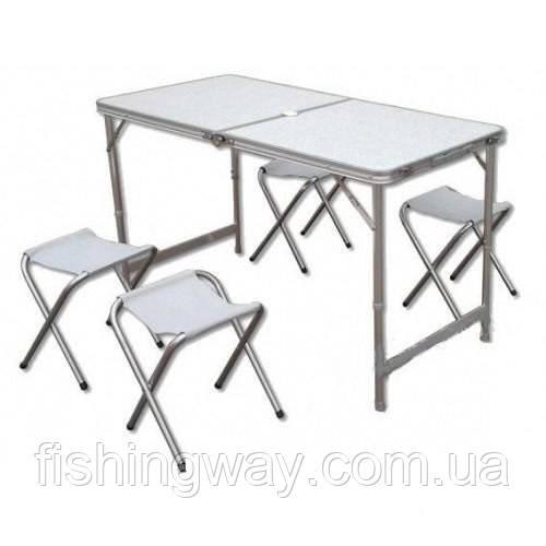 Стол раскладной для пикника со стульями, 120х60см