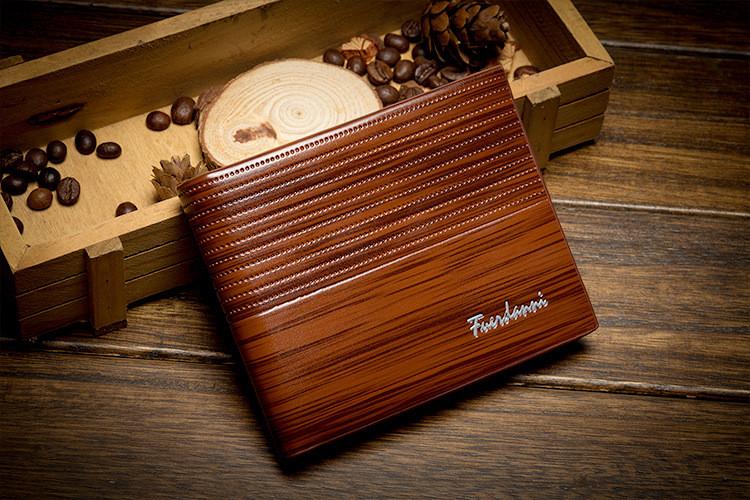 Мужское портмоне Fuerdanni, классического стиля, коричневого цвета
