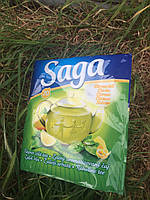 Чай Saga зеленый с лимоном