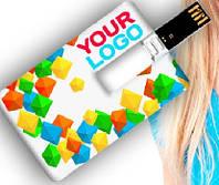 Флеш накопитель GOODRAM USB PLASTIC CC ПЛАСТИКОВАЯ КАРТА 2.0 на 4Гб