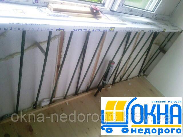 Балкон с выносом в Киеве ул.Темерязевская 4