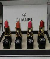 Набор подарочный Chanel 4 помады(реплика)