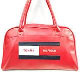 Универсальные сумки КОЖВИНИЛ THilfiger (розовый)26*42, фото 2