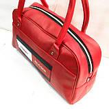 Универсальные сумки КОЖВИНИЛ THilfiger (розовый)26*42, фото 3