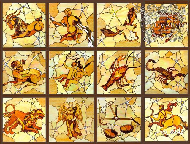Витраж на потолок гороскоп