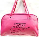 Универсальные сумки КОЖВИНИЛ Nike (черный)26*42, фото 3