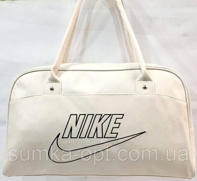 Универсальные сумки КОЖВИНИЛ Nike (белый)26*42