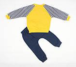 """Теплый спортивный детский костюм желто-синего цвета для мальчика """"Кот-матрос"""", фото 2"""