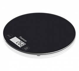 Весы кухонные электронные 18х1.5см стеклянные Fissman