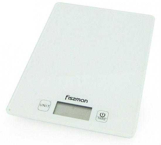 Весы кухонные электронные 19х14х1.4см стеклянные Fissman