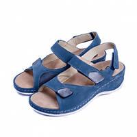 Женские босоножки 785, синие, Mubb