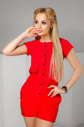 "Летний женский комбинезон-шорты ""TEON"" с карманами и коротким рукавом (3 цвета), фото 2"