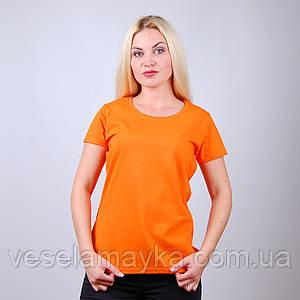 Оранжевая женская футболка (Комфорт)