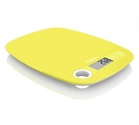 Весы кухонные электронные 20х15х1.3см стеклянные Fissman
