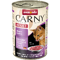 """Консервы Carny Adult """"С говядиной и ягненком"""" 11,5/6,5 (для взрослых кошек), 400г"""