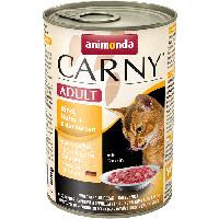 """Консервы Carny Adult """"С говядиной, курицей и уткой"""" 11,5/6,5 (для взрослых кошек), 400г"""