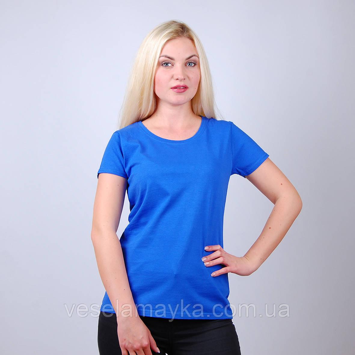 Синяя женская футболка (Комфорт)