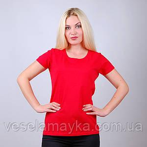Красная женская футболка (Комфорт)