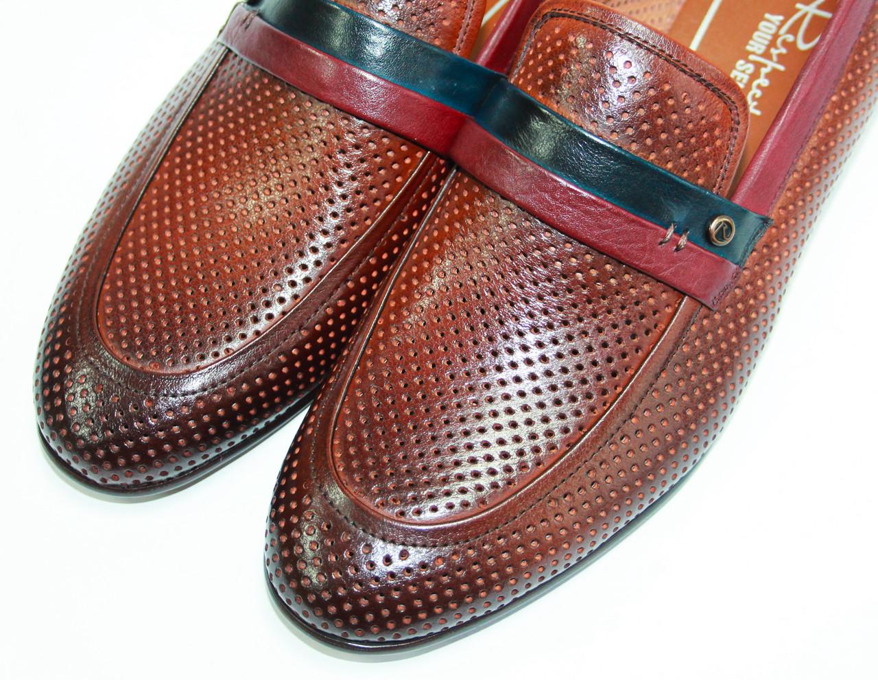 3e23f12dcb5e Мужские летние перфорированные туфли Respect натуральная кожа 43, ...