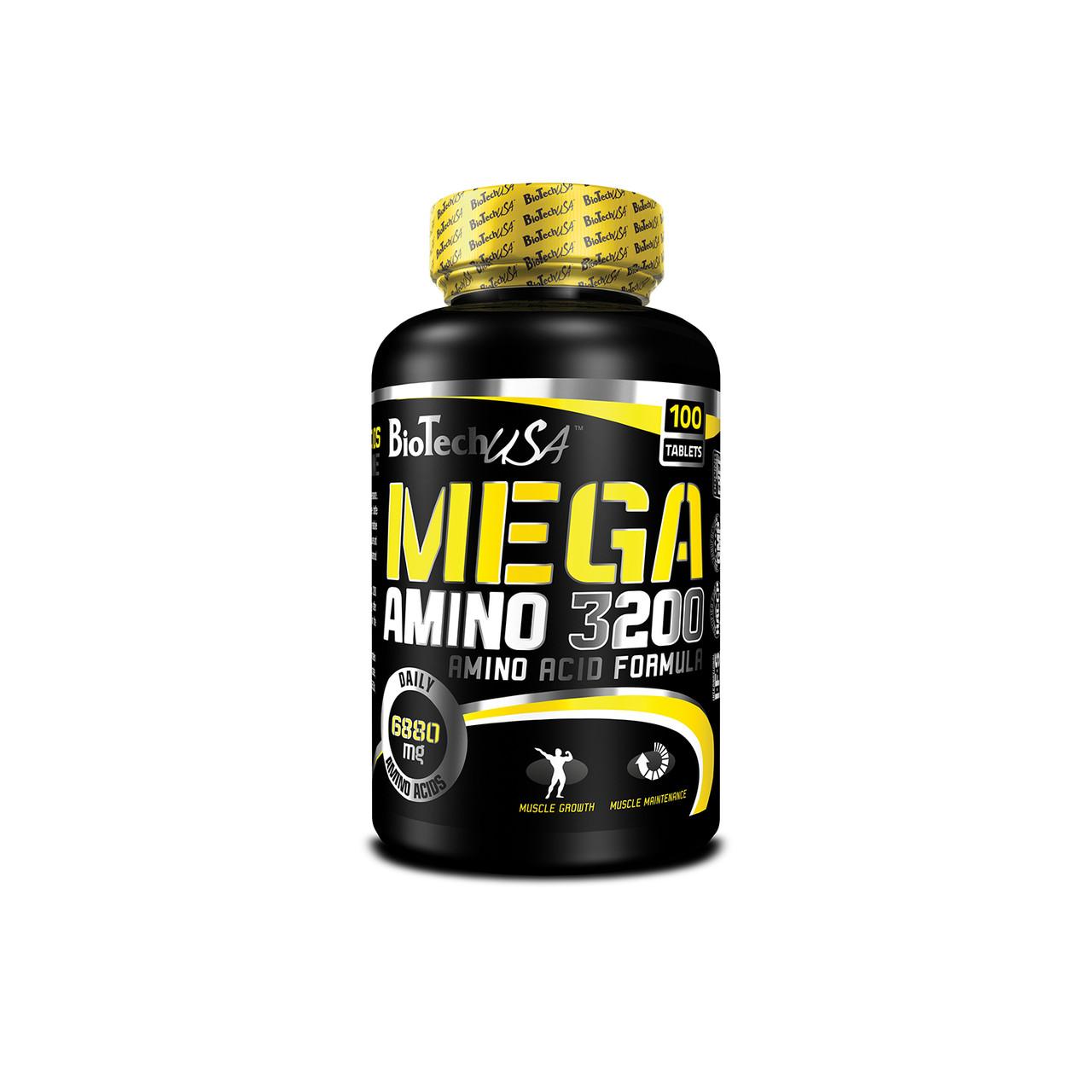 Аминокислоты BioTech USA Mega Amino 3200 100 caps