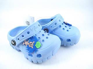 Кроксы синие, crocs, сабо Jose Amorales