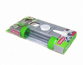 Кондитерский шприц-пистолет 23см пластиковый с 13 дисками для печенья и 6 насадками для крема Fissman