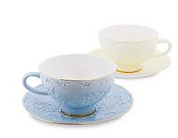 Чайный набор на 2 персоны Белла Мария из костяного фарфора