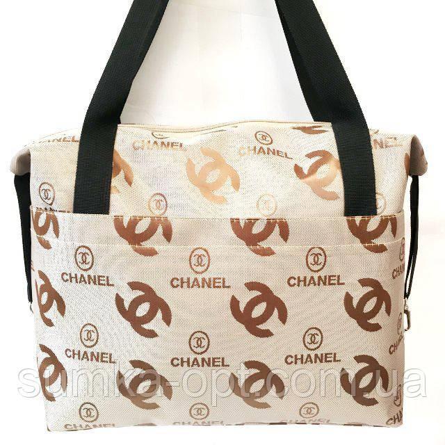 Стьобані сумки оптом Chanel (кава)28*33