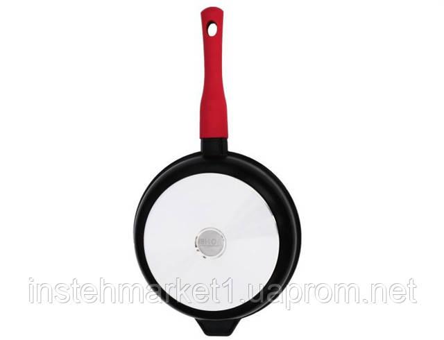 Сковорода БИОЛ 2406ПС (діаметр 240 мм), алюмінієва з антипригарним покриттям Greblon C3+ PEEK, кришка в інтернет-магазині