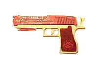 Деревянная игрушка пистолет Solid Design GummyGun Хулиганка Красный
